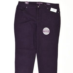 Gloria Vanderbilt Plus 20W Purple   Straight Cotto